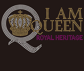 I am Queen Q with Crown purple, topaz, clear