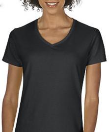 Women's T-Shirt Ladies V-Neck 100% cotton pre-shrunk (Black) Gildan® or Bella Canvas