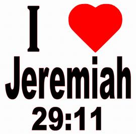 I Love Jeremiah 29:11 Vinyl Transfer