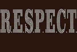 Respect (Bold font) - Custom Rhinestone Transfer