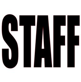 Staff (Text) ( BLACK) Vinyl Transfer