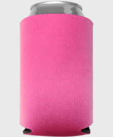 Neon Pink - Plain Koozie or Can cooler