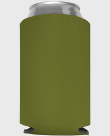 Olive - Plain Koozie or Can cooler