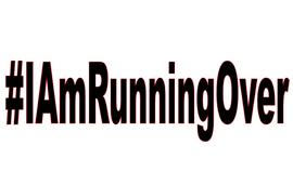 #IamRunningOver (Black Text) Vinyl Transfer