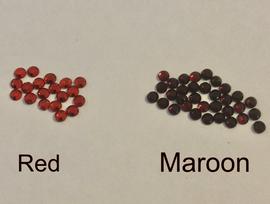 MAROON (Burgundy) (Darker Red) 3mm 10ss Premium quality Loose Hotfix Rhinestone