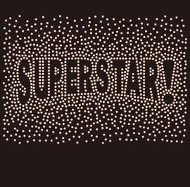 SUPERSTAR! (exclamation symbol) Splatter - Custom Rhinestone Transfer