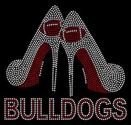 Bulldogs with Heels Custom Rhinestone Transfer