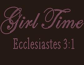 Girl Time Ecclesiastes (Pink) - custom Rhinestone Transfer