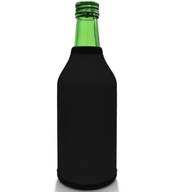 Black Bottle Koozie Neoprene