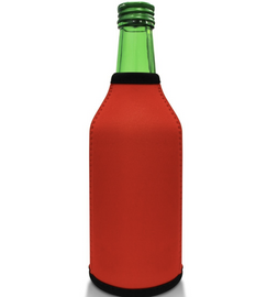 Red Bottle Koozie Neoprene