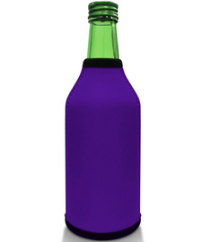 Purple Bottle Koozie Neoprene