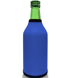 Royal Blue Bottle Koozie Neoprene