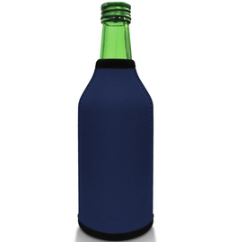 Navy Blue Bottle Koozie Neoprene