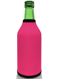 Hot Pink Bottle Koozie Neoprene