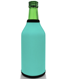 Light Blue Bottle Koozie Neoprene