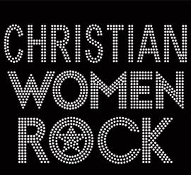 Christian Women Rock Religious Rhinestone Transfer