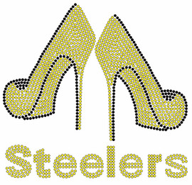 Steelers two heels Custom Rhinestone Transfer