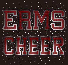 ERMS Cheer Splatter - Custom Rhinestone Transfer