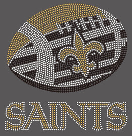 Saints Football  Custom Rhinestone Transfer