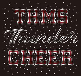 THMS Thunder Cheer Splatter - Custom Rhinestone Transfer