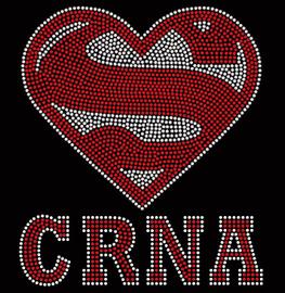 Super CRNA Rhinestone Transfer