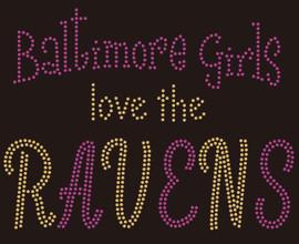 Baltimore Girls love the Ravens custom Rhinestone Transfer