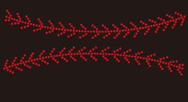 (9x1.5) Baseball Stitches only (on top and bottom) McCabe Rhinestone Transfer