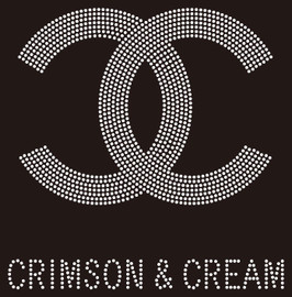 CC Crimson & Cream custom Rhinestone Transfer