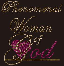 Phenomenal  Woman of God  Rhinestone Transfer