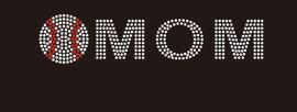 (9x2) Baseball Mom (arial font) - McCabe Rhinestone Transfer