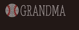(9x2) Baseball Grandma (Roman) McCabe Rhinestone Transfer