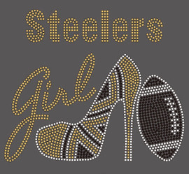 Steelers girl heel custom Rhinestone Transfer
