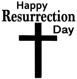 Happy Resurrection day cross Vinyl Transfer (BLACK)