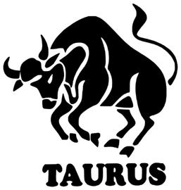 TAURUS Zodiac horoscope Vinyl 1Transfer (Black)