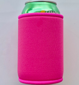 Stubby Can cooler 5mm Neoprene (Hot Pink)