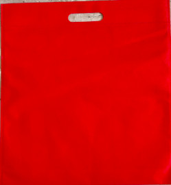 """Exhibition Tote Bag 16""""W x 15""""H x 2.5""""D (Red)"""