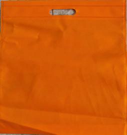 """Exhibition Tote Bag 16""""W x 15""""H x 2.5""""D (Orange)"""
