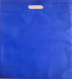 """Exhibition Tote Bag 16""""W x 15""""H x 2.5""""D (Blue)"""