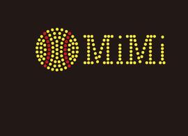(Small 4.75x1.6) Softball  MiMi McCabe Rhinestone Transfer