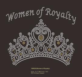 Women of Royalty Crown custom Rhinestone Transfer