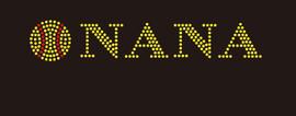 (9x1.6) Softball  Nana McCabe Rhinestone Transfer