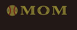 (9x2) Softball Mom (roman font) - McCabe Rhinestone Transfer