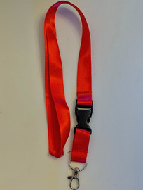 Lanyard double clip safety break away (Red)