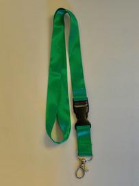 Lanyard double clip safety break away (Green)
