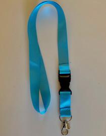 Lanyard double clip safety break away (Light Blue)