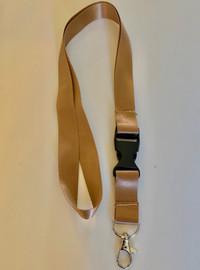 Lanyard double clip safety break away (Brown)
