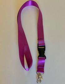 Lanyard double clip safety break away (Purple)