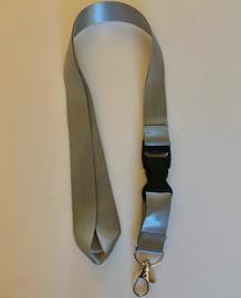 Lanyard double clip safety break away (Grey)