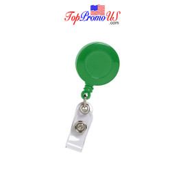 Retractable ID Badge Reel Holder (Green)
