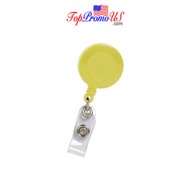 Retractable ID Badge Reel Holder (Yellow)